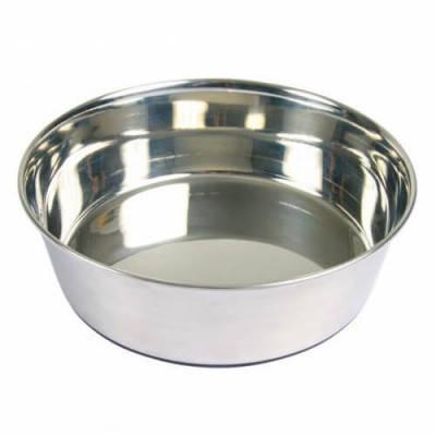 Trixie Миска для собак металлическая с резиновым основанием, 1 л/17 см, фото 2