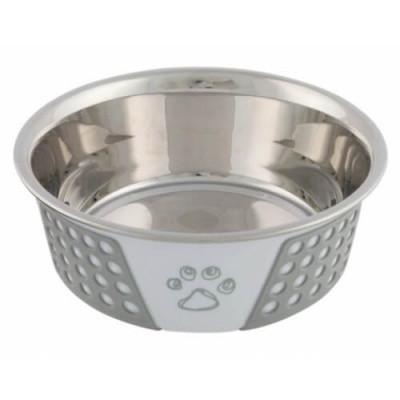 Миска металлическая для собак Trixie, с силиконовым покрытием, 1,4 л/21 см