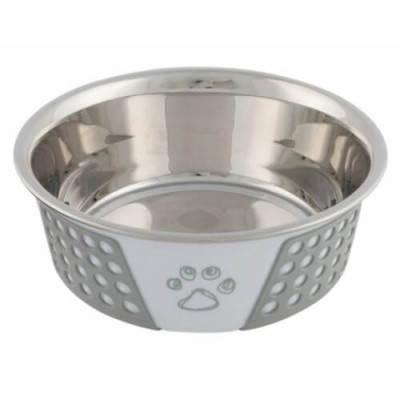 Миска металлическая для собак Trixie, с силиконовым покрытием, 1,4 л/21 см, фото 2