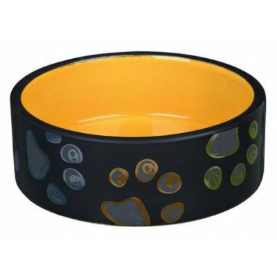 Миска для собак Трикси-Trixie Jimmy, керамическая с лапками, 1,5 л/20 см