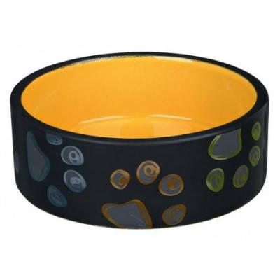 Миска для собак Трикси-Trixie Jimmy, керамическая с лапками, 1,5 л/20 см, фото 2