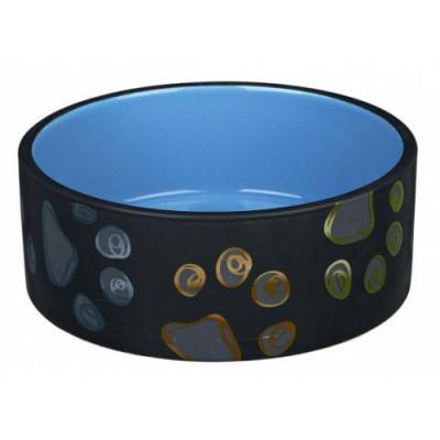 Миска для собак Трикси-Trixie Jimmy, керамическая с лапками, 0,75 л/15 см
