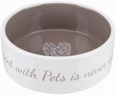 Миска керамическая для собак и кошек Trixie (Трикси) Pet's Home, 0,8 л/16 см, бежевая, фото 2