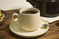 Чашка с блюдцем для чая 200 мл керамическая чашка керамика, фото 1