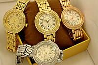 Женские кварцевые наручные часы Cartier, Gold&Silver&Red Gold