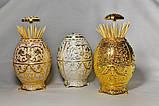 """Резервуар для хранения зубочисток """"яйцо фаберже"""" Gold S подставка для зубочисток Sakura, фото 2"""