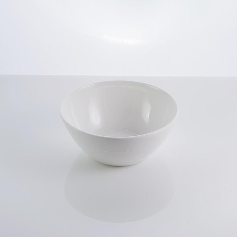 "Тарелка фарфоровая салатная 5,5 ""Blob"" 450 мл фарфор"