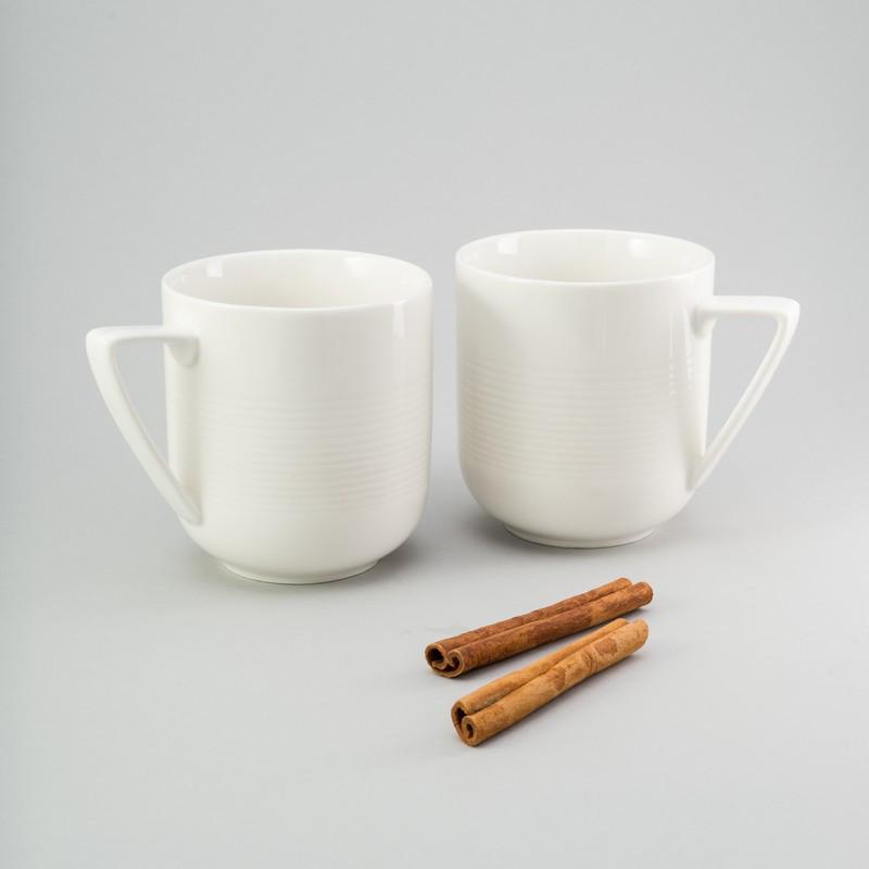 """Набор чашек 2 ед """"Каприз"""" 350 мл белые керамические чашки комплект"""