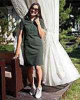 Платье Поло для кормящих хаки