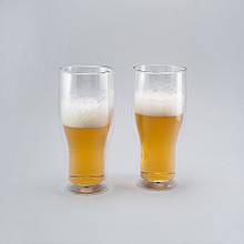 Комплект пивных бокалов с двойным дном 2 шт. по 500 мл пивные бокалы для пива
