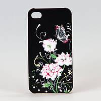 Чехол Night-fly черный пластиковый для iphone 4/4s