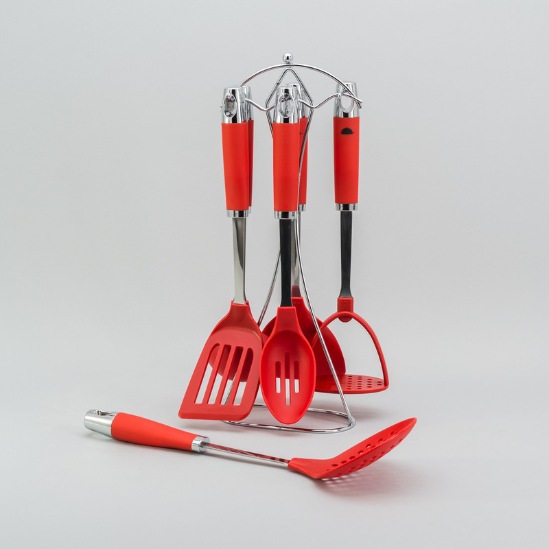 Кухонный набор Стандарт с подставкой 7ед. набор кухонных принадлежностей