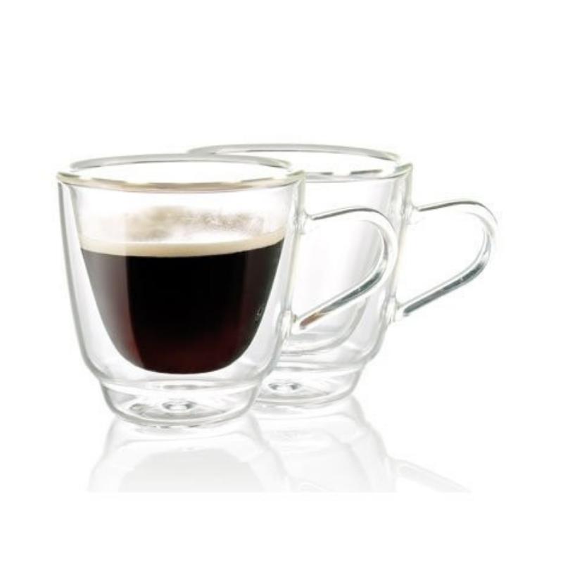 Комплект чашек с двойным дном 180 мл 2 шт стеклянные чашки набор - фото 1