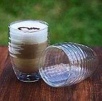 Комплект стаканов с двойным дном 2 шт 370 мл стаканы чашки двойное дно для кофе латте