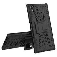 Ударопрочный чехол с функцией подставки Shield для Sony Xperia XA1 черный