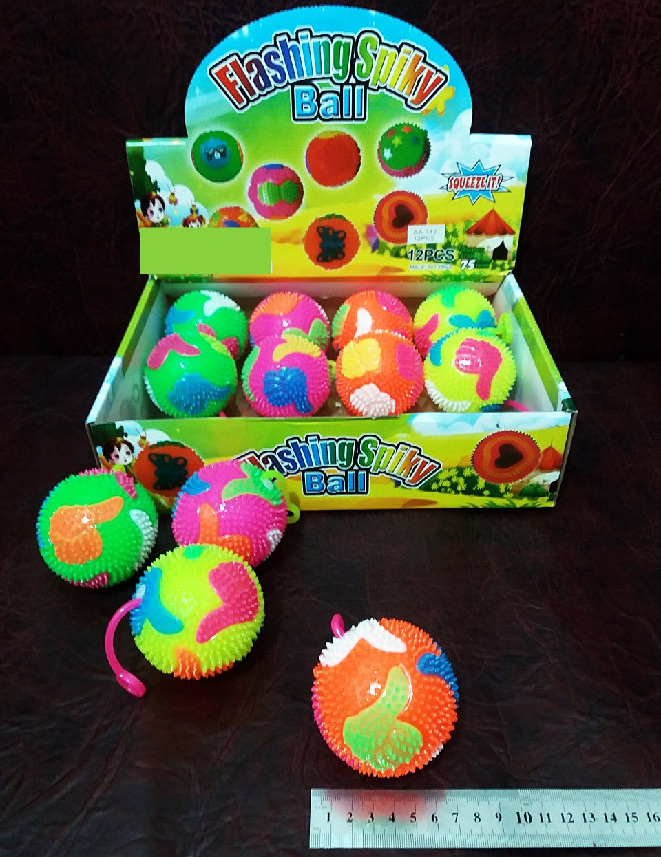 Резиновый мячик с шипами игрушка-антистресс