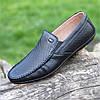 Туфли мокасины мужские кожаные летние черные ( код 239 ) - туфлі мокасини чоловічі шкіряні літні чорні