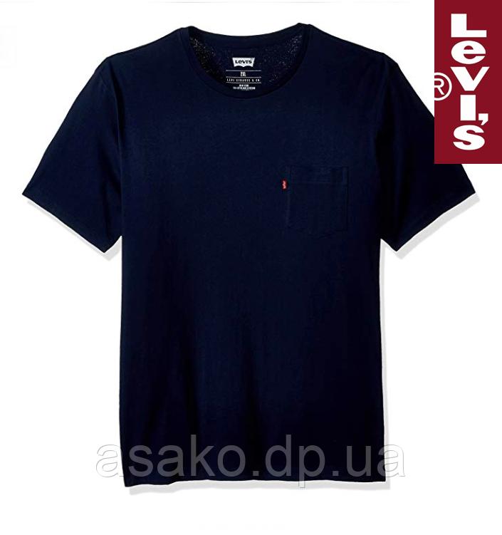 cd9a36b187ed Футболка с карманом Levi's®(США)/100% хлопок/Темно-синяя/Оригинал из ...