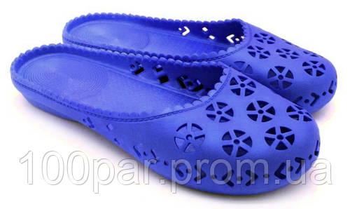 Женские резиновые шлепанцы. Модель: 700 (синий). Размеры: 36-40.