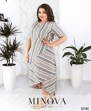 Платье женское летнее лен, размер: 54-56, фото 2
