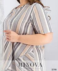 Платье женское летнее лен, размер: 54-56, фото 3