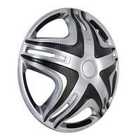 Колпаки выпуклые Star Дакар Super Silver R16 на Газель дутые передние, пара