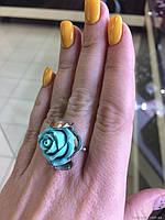 Серебряное кольцо с ювелирной керамикой Розалия