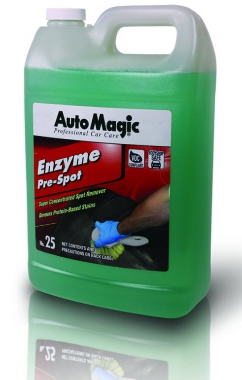 Очиститель салона Auto Magic Enzyme pre-spot №25 удаляет сложные пятна крови, пищи, напитков