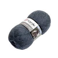 Пряжа для ручного вязания Yarnart   Angora De Luxe (Ангора де люкс) мохер 3864 джинс