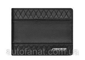 Оригинальный кожаный кошелек Mercedes-Benz AMG Wallet, Black Leather, RFID protection (B66954137)
