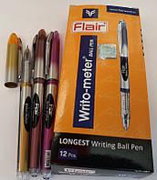 """Ручка Flair 10км 743 """"Writometer"""" ЧЕРНАЯ шариковая 0,6мм Индия оригинал уп12 бл144, фото 1"""