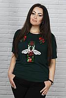 Привлекательная женская футболка  для пышных дам, фото 1