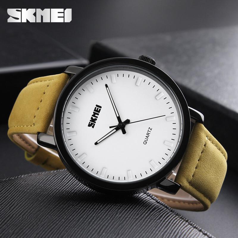 Skmei 1196  Желтые мужские классические  часы