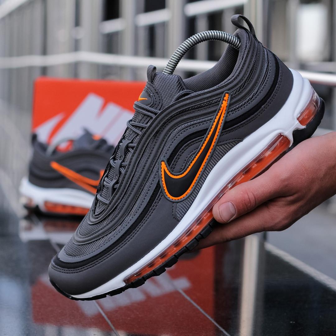 """Кроссовки Nike Air Max 97 """"Серые\Оранжевые"""""""