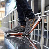 """Кроссовки Nike Air Max 97 """"Серые\Оранжевые"""", фото 2"""