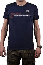 """Футболка мужская """"DC"""" 46-48 (AT106/M/D.Blue)   1 шт."""