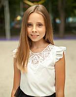 Блузка очень красивая  с кружевной аппликацией на груди  мод. 9005, фото 1
