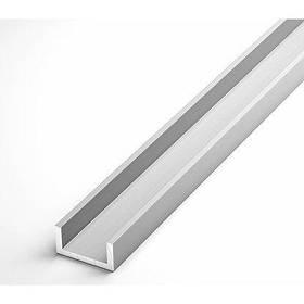 Швеллер алюминиевый Braz Line 8х8х1.0 мм анод серебро 2 м