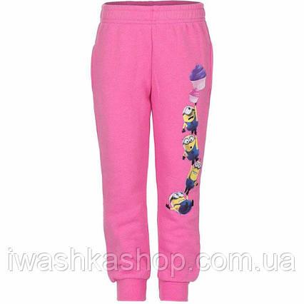 Утеплені спортивні штани - джоггеры Міньйони, Minions на дівчинку 8 років, р. 128, Despicable Me / Sun City