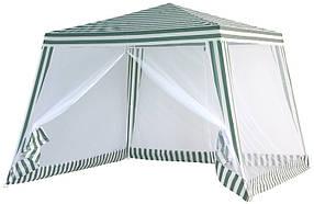 Садовый павильон SP-002 3х3 м Белый/Зеленый (Ranger TM)