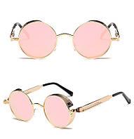 Металлические круглые ретро очки для женщин Molniya