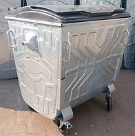 Мусорный контейнер оцинкованный 1,1 м3