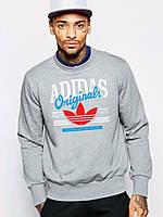 Мужской спортивный свитшот Adidas (Адидас), серая