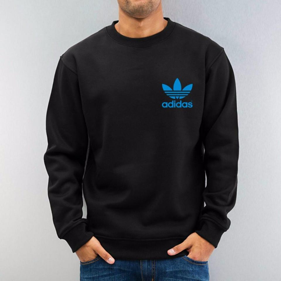 Демисезонная повседневная спортивная кофта Adidas (Адидас), черная