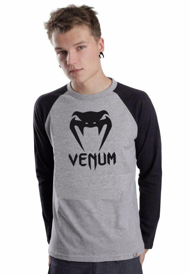Летняя мужская спортивная кофта Venum (Венум), серо-черная