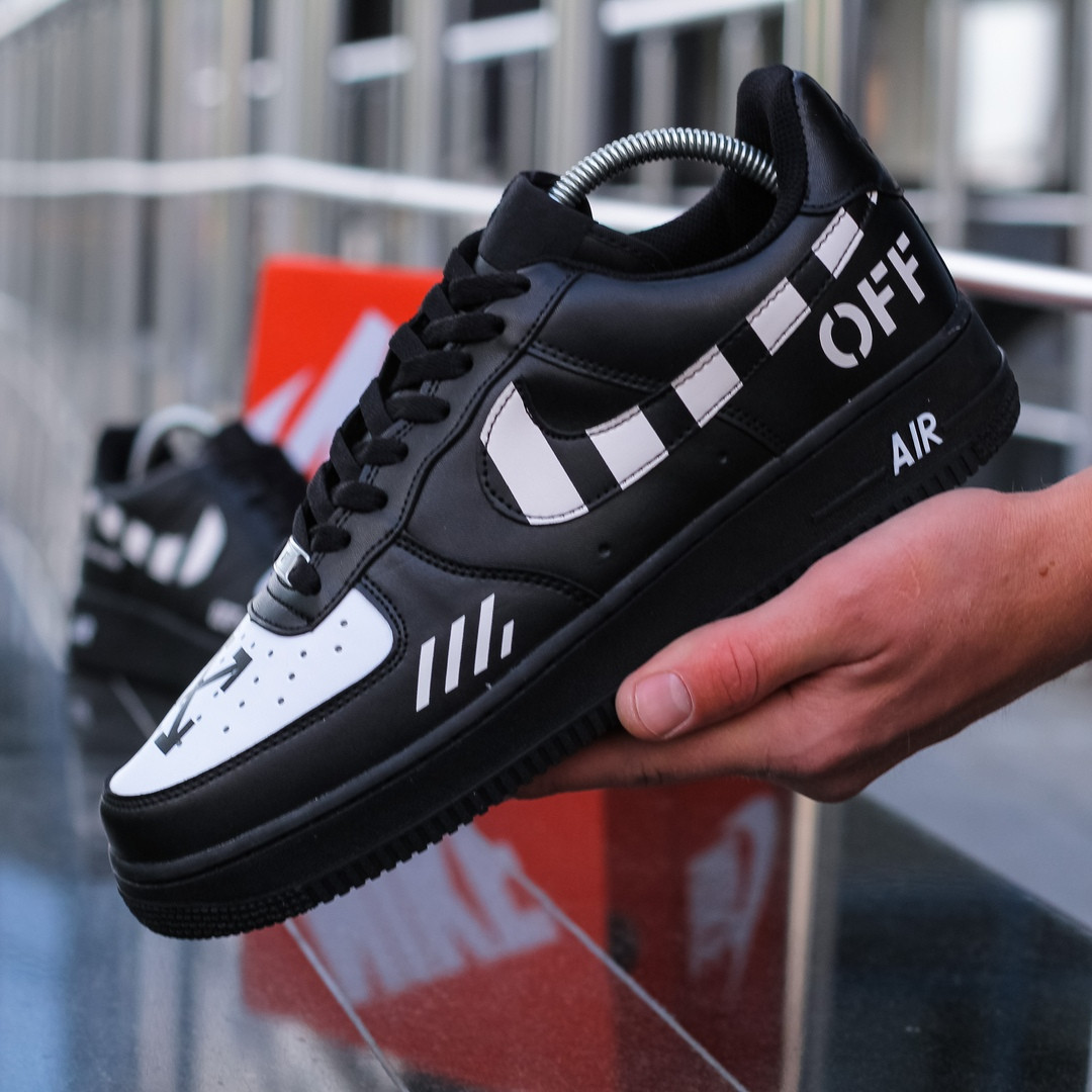 "Кроссовки Off-White x Nike Air Force 1 Beaverton 1982 ""Черные"""