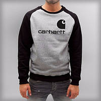 Мужская спортивная кофта (спортивный свитшот) CARHARTT, серо-черная