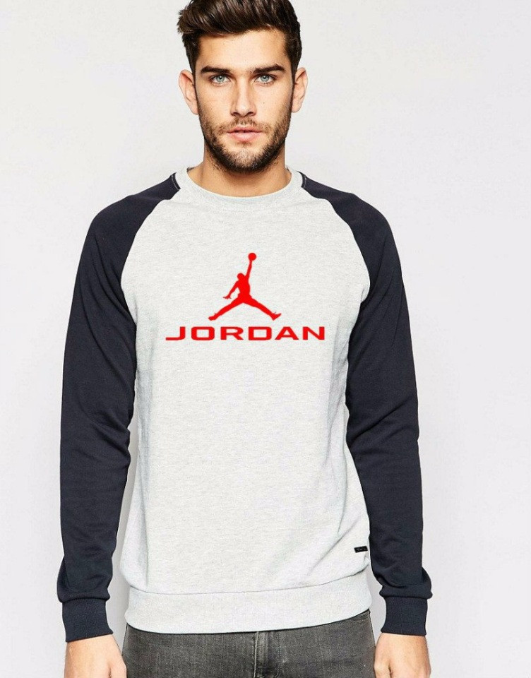 Серо-черная мужская спортивная кофта Jordan (Джордан)