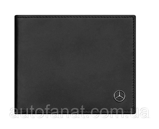 Оригинальный кожаный кошелек Mercedes-Benz Wallet, Calfskin, RFID, Black (B66953960)