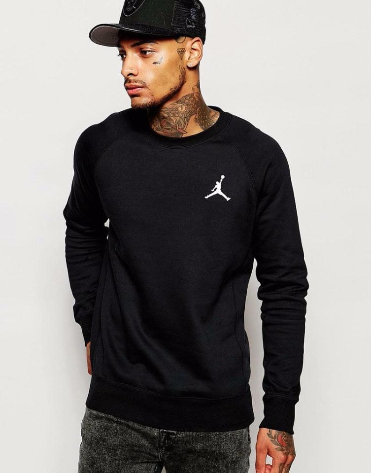 Демисезонная мужская спортивная кофта Jordan (Джордан), черная